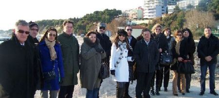 Montenegrin delegation in Split