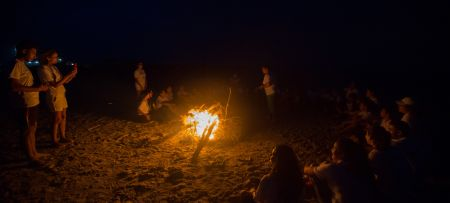 Celebrating Coast Day under the moonlight of Ghar El Melh